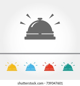 Hotel Reception Bell Single Icon Vector Illustration