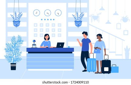 Hotel Receptionist Cartoon Images Stock Photos Vectors Shutterstock