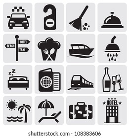 hotel and rest icons