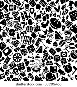 Hotel And Restaurant Solid Icons Pattern
