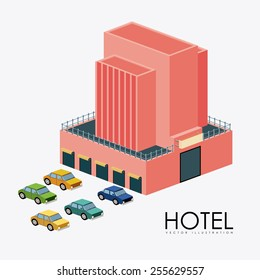 hotel, service desing over white background, vector illustration