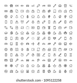 Hotel Service Flat Icon Set Single High Quality Outline Symbol Of Info For Web Design