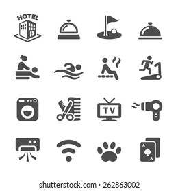 hotel service icon set 5, vector eps10.