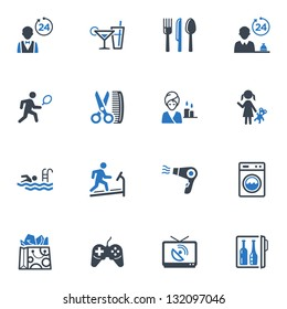 Hotel Services & Facilities Icons Set 2 - Blue Series