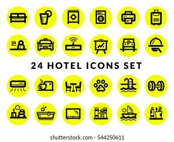 Hotel services - Icon Set