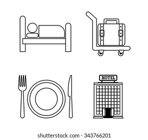 Hotel services and travel graphic design, vector illustration eps10