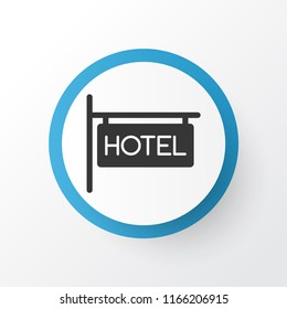 Hotel sign icon symbol. Premium quality isolated inn element in trendy style.