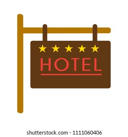 hotel sign and symbol. travel concept - Five star hotel icon