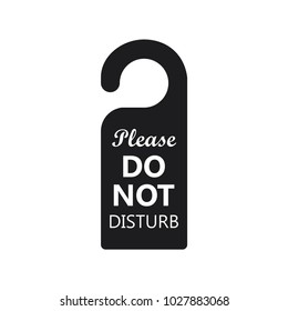 hotel sign, vector hotel hanging sign, do not disturb hanging sign