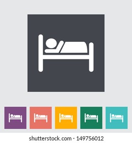 Hotel single icon. Vector illustration.