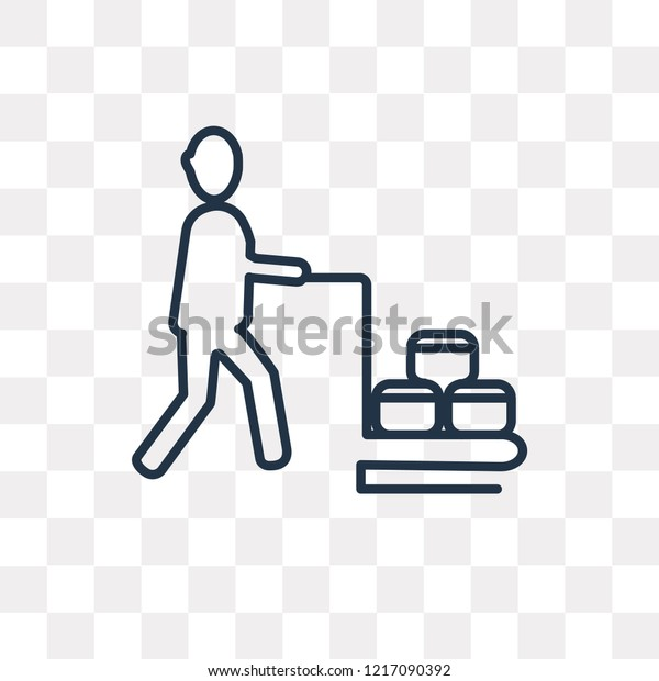 Hotel Supplier Vector Outline Icon Isolated Stock Vector (Royalty