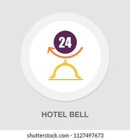 hotel vector bell icon, alert symbol service concierge symbol - lobby call