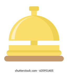 Hotell bell flat icon, Travel and tourism, reception service vector graphics, a colorful solid pattern on a white background, eps 10.