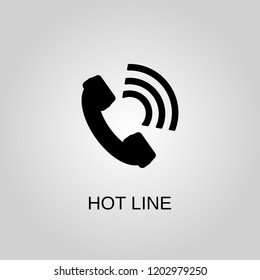 Hotline icon. Hot line symbol. Flat design. Stock - Vector illustration