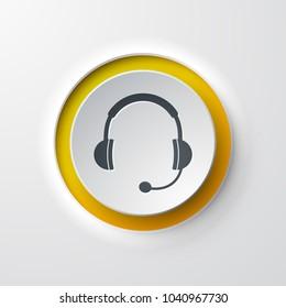 Hotline web icon push button