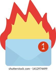 Hotmail geometric illustration isolated on background