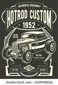 Hotrod Custom Vintage Poster Template