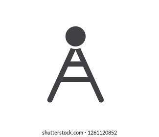 hotspot glyph solid icon illustration vector,hotspot icon illustration