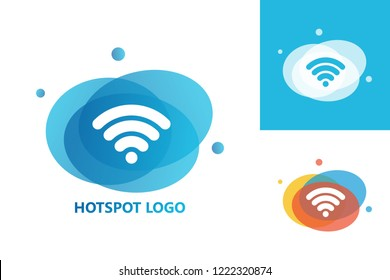 Hotspot Logo Template Design Vector, Emblem, Design Concept, Creative Symbol, Icon