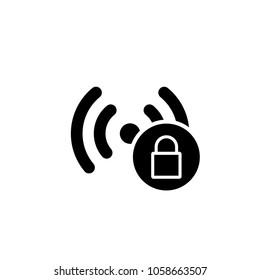 hotspot wifi protect password icon vector template