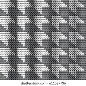 Hounds Tooth Check Seamless Knitting Pattern Goose pads