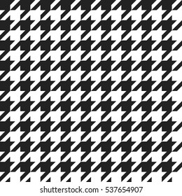 Houndstooth  - retro geometric pattern for clothing fashion. Seamless classic vector background. Vintage textile texture. Black and white style.