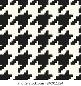 houndstooth seamless pattern black and white vector