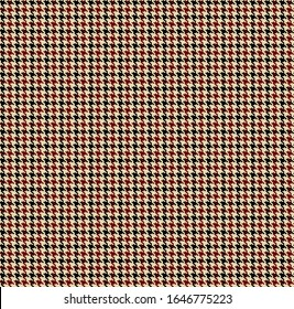 Houndstooth seamless pattern. Brown classical fabric background