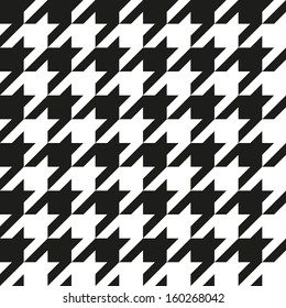 Houndstooth seamless pattern, monochrome. Can be used for wallpaper, pattern fills, web page background,surface textures