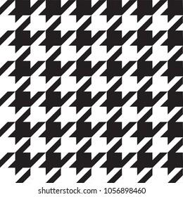 Houndstooth Seamless Pattern Vector Illustration