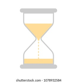 hour glass button - vector sand glass, vector watch countdown, symbol sign isolated