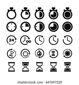 Hour glass & Clock icons