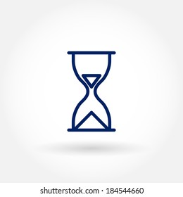 Hour glass icon. Modern line icon design. Modern icons for mobile or web interface. Vector illustration.