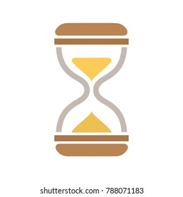 hour glass icon - sand clock - time illustration