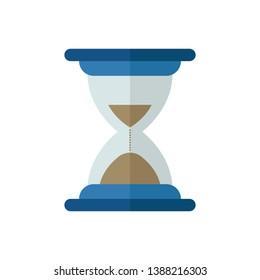 hour glass icon, symbol and vector. Can be used for web, print and mobile