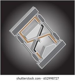 hour glass logo design