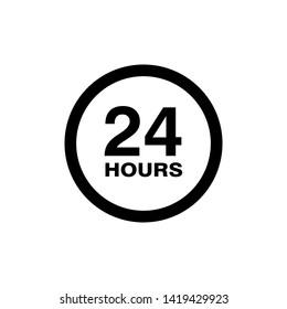 hour icon vector illustration - vector