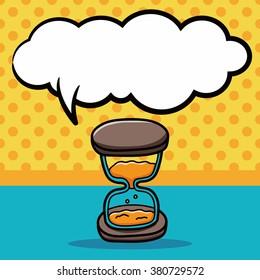 Hourglass doodle, speech bubble