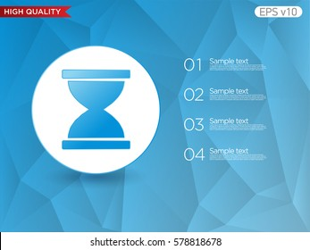 Hourglass icon. Button with sand timer icon. Modern UI vector.