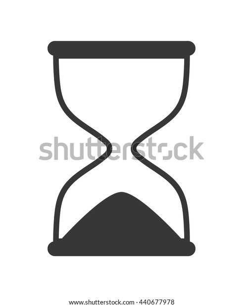 Hourglass icon. Clock design. vector graphic