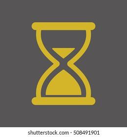 Hourglass Icon.  Flat design.