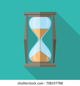 Hourglass Icon Flat Design Long Shadow