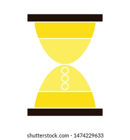 hourglass icon. flat illustration of hourglass vector icon. hourglass sign symbol