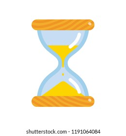 Hourglass icon, flat style sandglass vector illustration isolated on white background