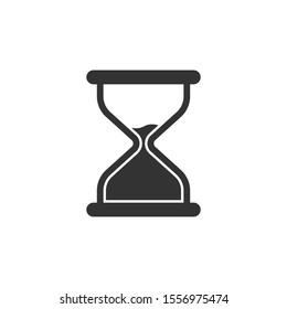 Hourglass icon in flat style. Sandglass vector illustration on white isolated background. Clock business concept.