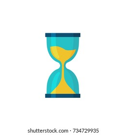 hourglass icon flat vector illustration flat design.
