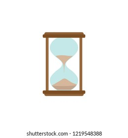 Hourglass icon. Office working abstract sign of sandclock on a white background for design.