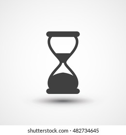 Hourglass icon. Sand clock icon. Sand timer, sand watch, sandglass icon. Loading sign. Waiting symbol, buffering icon. Wait icon