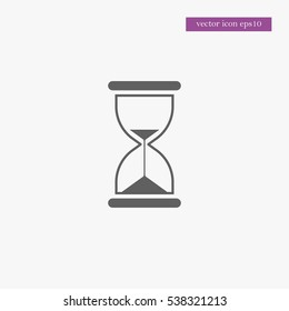 Hourglass icon simple sand clock sign vector illustration