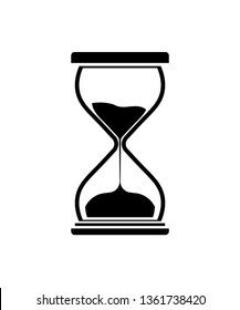 Hourglass icon. Hourglass Timer Sand as Countdown Illustration